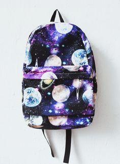 space galaxy print backpack