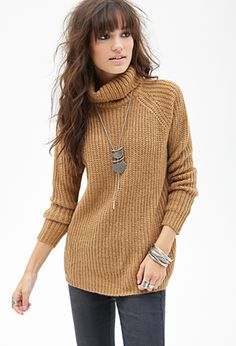 Really getting into the oversized sweaters    Ribbed Turtleneck Sweater | FOREVER 21 - 2000067099
