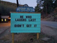 Cute jokes - Puns In Colorado Making Passerby Laugh Out Loud – Cute jokes Funny Shit, Funny Puns, Funny Fails, Funny Texts, The Funny, Funny Stuff, Funny Things, Cute Jokes, Silly Jokes