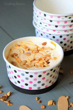 Glace caramel cacahuètes
