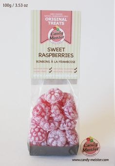 Sweet Raspberry Candy contains only natural, gluten, and dairy free ingredients. High quality natural raspberry extract give this candy a flavoursome and aromatic flavour. When dissolved in hot water, the candy turns into a naturally sweetened mild fruit tea. Raspberry Extract, Dairy Free, Gluten Free, Fruit Tea, Mulled Wine, Hard Candy, Natural Flavors, Candies, Vanilla
