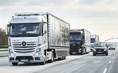 Télécharger fonds d'écran Mersedes-Benz Actros, 2016, la norme euro 6, allemand camions, Mersedes V-classe, le camionnage, les Mersedes