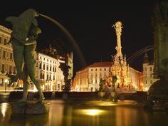 Arion fountain, Olomouc, Czech Republic.