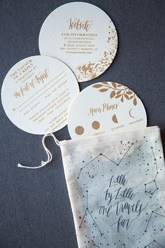 Moon and Stars Wedding Invitations by Lovely Paper Things / Oh So Beautiful Paper
