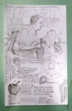 Ways of note taking OR informal combos of imagery & type  Beautiful sketchnote in pencil: JanePernille - Sketchnote Army