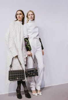 Georgia Hilmer and Julia Nobis at Christian Dior S/S 2015 Backstage