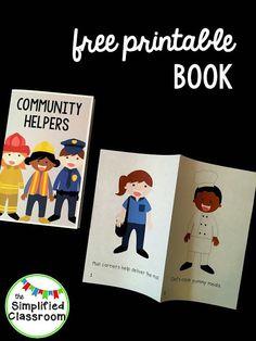 The Simplified Classroom: Community Helpers Easy Reader Freebie!