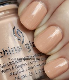 China Glaze Anchors Away Spring 2011 Collection – Sand & Sea - Sunset Sail is a peachy nude with an opaque creme base peppered with silver micro-glitter.  It has that band-aid effect and reminds me of a beloved shade OPI Skinny Dippin In Lake Michigan except I think Sunset Sail is more wearable.