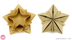 Video instructions for a pretty origami star that can be used as a bowl. This layered origami five point star is made from one sheet of paper and is easier than you would think. From paperkawaii.com