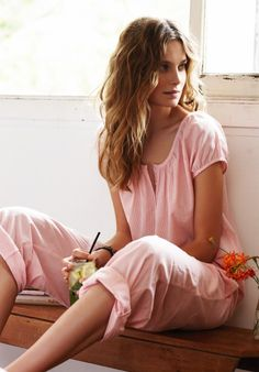 Crinkle Cotton Pajamas | Different color for each night, yep, I'ma happy sleeper!