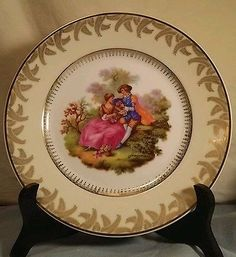 "SPAL Fragonard #27 Courting Couple Portugal 8"" Collectors Plate Signed RARE"