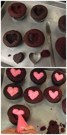 Valentine Cupcakes ((simple especially for someone who doesn't like a lot of icing))