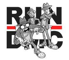 RUN DMC (cartoonized)