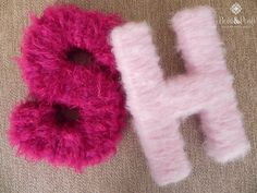 yarn letters - perfect for teen girl's room. Use the cardboard letters from…