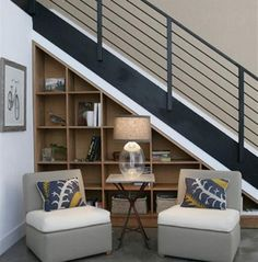 Storage Under Stairs Shelves Space Stair Book