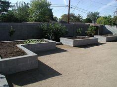 Raised Garden Bed - concrete block by VYNNIE THE GARDENER, via Flickr