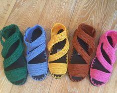 crochet sandals, summer shoes, flat sandals with rubber soles, handmade sandals, artesaniaRD Crochet Patterns Free Women, Crochet Shoes Pattern, Crochet Poncho Patterns, Shoe Pattern, Crochet Designs, Crochet Sandals, Crochet Slippers, Knit Shoes, Sock Shoes