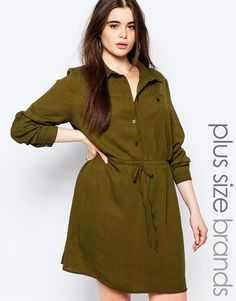 Image 1 of Missguided Plus Waisted Shirt Dress