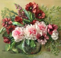 748 best Silk Ribbon Embroidery
