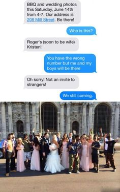 So funny! Wrong number text...