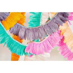 Here is our first pre release from our latest collection WONDER FILLED. 1.8 meter feather garlands are ready to party or hang forevs above your bed. So pretty.