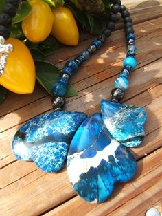 If you need help with Public Speaking than Blue is the colour to assist you with that.. this is the perfect necklace to assist you in speaking from your heart.