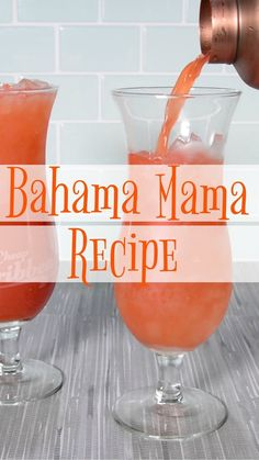 We're dreaming of sandy beaches and fruity cocktails and today's Bahama Mama cocktail recipe is the perfect way to transport back to your last beach vacay.