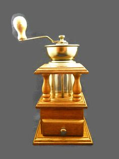 ✿ Double Layered Wooden #Coffee #Grinder, Coffee Mill #Etsy