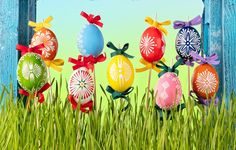author: grimarika / size: 4251x3200 / tags: eggs, spring, Happy, flowers, Easter, eggs, Easter, decoration, grass, spring