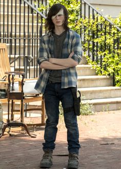 Carl Grimes in The Walking Dead Season 7 Episode 4 | Service