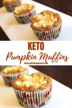 KETO Pumpkin Muffins are the perfect treat that everyone is sure to love.  They are loaded with tons of flavor without all the carbs. . #pumpkin #muffins #creamcheese #keto #ketogirl #ketobreakfast #ketoliving #sparklesnsprouts