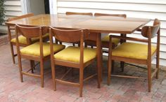 American of Martinsville Dining Table and Chairs Dining Table Chairs, Mid Century Modern Furniture, Mid-century Modern, American, Home Decor, Homemade Home Decor, Decoration Home, Interior Decorating