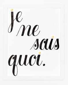 Gold foil and letterpress french print by Sycamore Street Press pinned with Bazaart