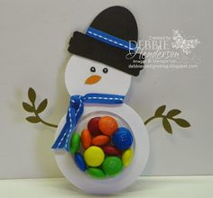 Debbie's Designs: 12 Days of Christmas Treat Holders-Day 7!