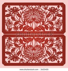 floral paper cut design | Floral element design in Chinese traditional Paper Cut style (Vector ...