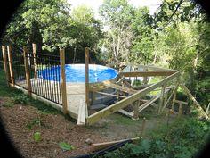 Above Ground Pool Built Into Hillside Sweet Summertime