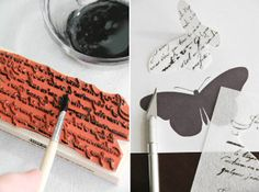 printing onto wafer paper with a normal stamp and food colouring - genius! From Sprinkles Bakes