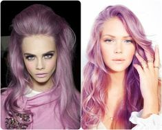2014 Winter/2015 Hairstyles and Hair Color Trends purple and lilac hair colors violet hair colors in waves