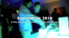 """SoundWalk Reactive-Table installation, 2010 """"A City Scene"""" by Steven Speciale. The user identifies himself, and created their own ideal city based on personal preferences, shaping a world that blends right with the world of another user."""