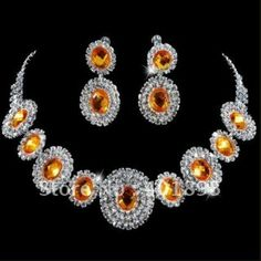 Fashion Bridal Jewelry Sets Necklace and Earrings