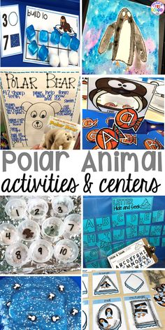 Polar Animal Themed Activities and Centers Pocket of Preschool : Polar animal themed activities and centers for preschool, pre k, and kindergarten. Preschool Themes, Polar Animals Preschool Crafts, Kindergarten Crafts, Preschool Printables, Kindergarten Language Arts, Preschool Writing, Homeschool Kindergarten, Animal Crafts, Winter Activities For Kids