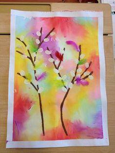 Primary School Art, Elementary Art, Spring Art Projects, Spring Crafts, Kindergarten Art, Preschool Art, Fish Crafts, Flower Crafts, Easter Arts And Crafts