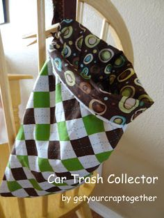 Sew a trash bag for the car