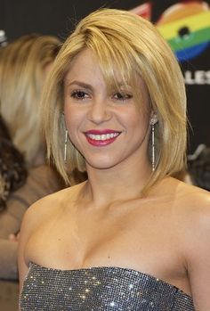 Shakira Sexy Bob Hairstyle