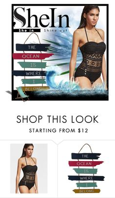 """""""Shein-contest"""" by sabine-rose ❤ liked on Polyvore featuring WALL"""