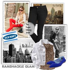 """""""Fit for a Rockstar with Old Navy"""" by streetwhit ❤ liked on Polyvore"""