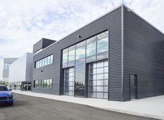Sheet Steel Siding and Cladding Metal Garage Buildings, Steel Buildings, Garage Design, Exterior Design, House Design, Industrial Architecture, Modern Architecture, Steel Siding, Factory Design