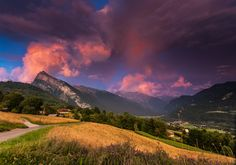 Samoens, France - A beautiful, stormy sunset over Samoens. www.alpsaccommodation.com