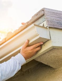 Since GutterDome has been providing homeowners with a permanent solution to the annual problem of gutter cleaning. Gutter Screens, Gutter Drainage, House Gutters, Diy Gutters, Copper Gutters, Gutter Protection, Leaf Guard, Roofing Estimate, Arquitetura