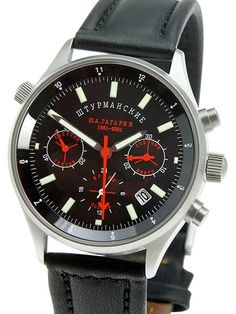 Sturmanskie Hand Wind Mechanical Chronograph with 24-Hour Sub-Dial